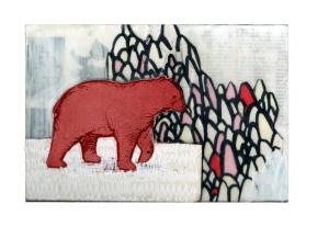 Mixed Media on Wood - Postcard Series