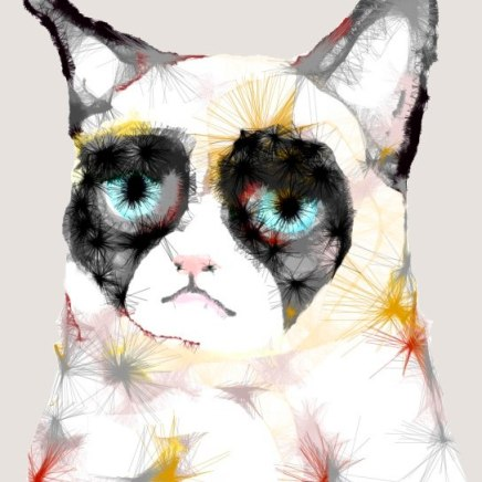 Grumpy Cat Digital Illustration 2012