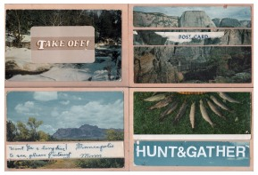 This is a submission for the Adventure issue of MPLSzine - featured in early 2013. Handmade postcard series using Vintage postcards