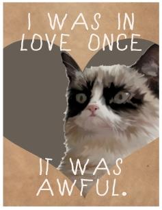 Grump Cat Love Valentine