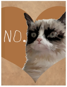 Break-up Cat Valentines from Lazy Geometry