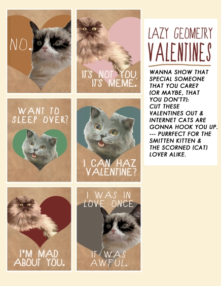 Cat Valentines Set by Paige Guggemos
