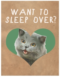 Come Cuddle Cat Valentine