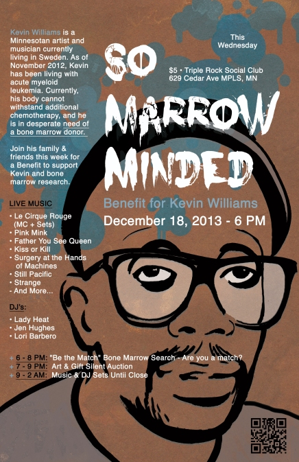 So Marrow Minded - Benefit for Kevin Williams - Design by Paige Guggemos
